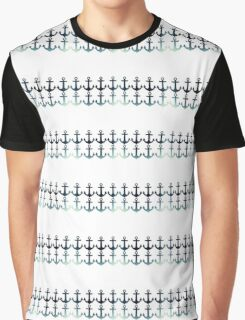 Anchors and Anchors and Anchors (On White) Graphic T-Shirt