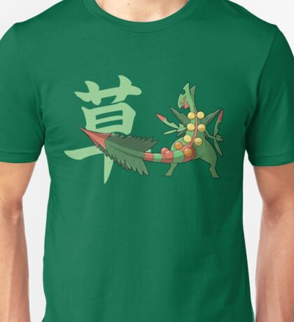 Sceptile With Grass Kanji Unisex T-Shirt