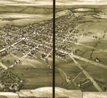 Panoramic Maps Gettysburg Pennsylvania 1888 Sticker