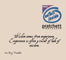 Wisdom and Experience - Sir Terry Pratchett T-Shirt