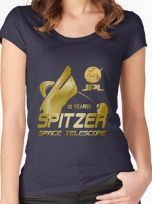10th Anniversary of the Spitzer Space Telescope Women's Fitted Scoop T-Shirt