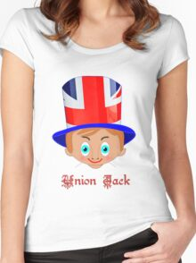 Union Jack T-shirt design Women's Fitted Scoop T-Shirt