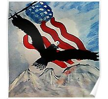God Bless America, Happy Memorial Day, watercolor Poster