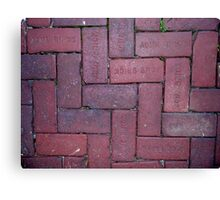 Thick As A Brick Canvas Print