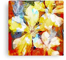 Clematis Tropical Impression Canvas Print