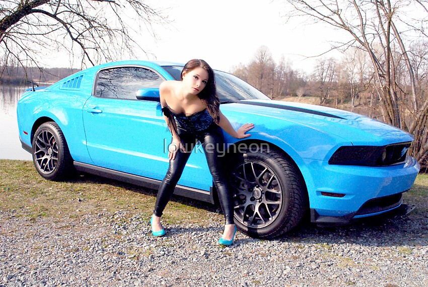 Quot 2012 Grabber Blue Mustang Gt Quot By Lowkeyneon Redbubble