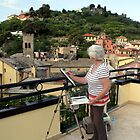 Freda in the Cinque Terre, Italy by Freda Surgenor