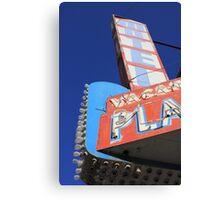 Plaza Motel Canvas Print