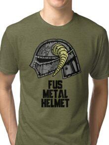 FUS METAL HELMET Tri-blend T-Shirt