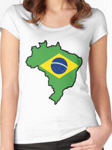 Brazil Women's Fitted Scoop T-Shirt