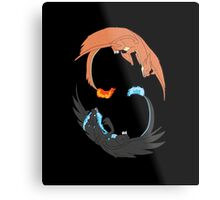 Mega Charizard Y and X Metal Print