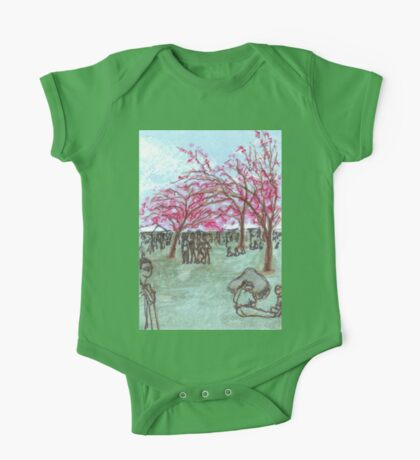 cherry blossoms One Piece - Short Sleeve