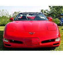 Red Corvette Edited Photographic Print