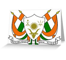 Coat of Arms of Niger Greeting Card