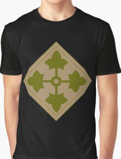 Fourth Infantry Division Insignia Graphic T-Shirt