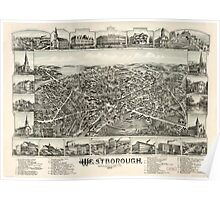 Panoramic Maps Westborough Massachusetts 1888 Poster