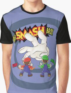Super Smash Bros Mario and Luigi Graphic T-Shirt