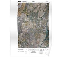 USGS Topo Map Washington State WA Hadley 20110404 TM Poster