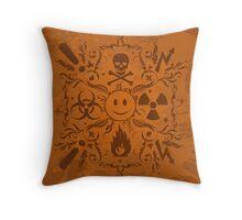 Hazardous Life (Orange version) Throw Pillow