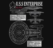 PICARDS ENTERPRISE NCC1701D  by infrablue