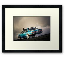 CLIFV8 Burnout Framed Print