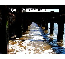 A View Down The Groyne! Photographic Print
