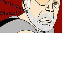 XO of the Battlestar Galactica, Colonel Saul Tigh by Leomeow