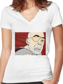XO of the Battlestar Galactica, Colonel Saul Tigh Women's Fitted V-Neck T-Shirt