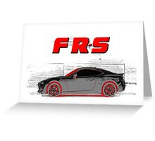 FR-S Wall Graffiti Greeting Card