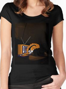 Retro Anteater Women's Fitted Scoop T-Shirt