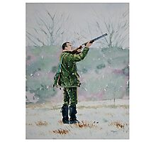Duncan shooting clays Photographic Print