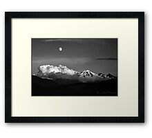 Mount Baker in Black Framed Print