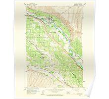 USGS Topo Map Washington State WA Naches 242770 1958 24000 Poster
