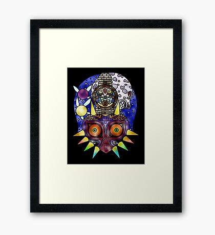 Majora's Mask Stained Glass Framed Print