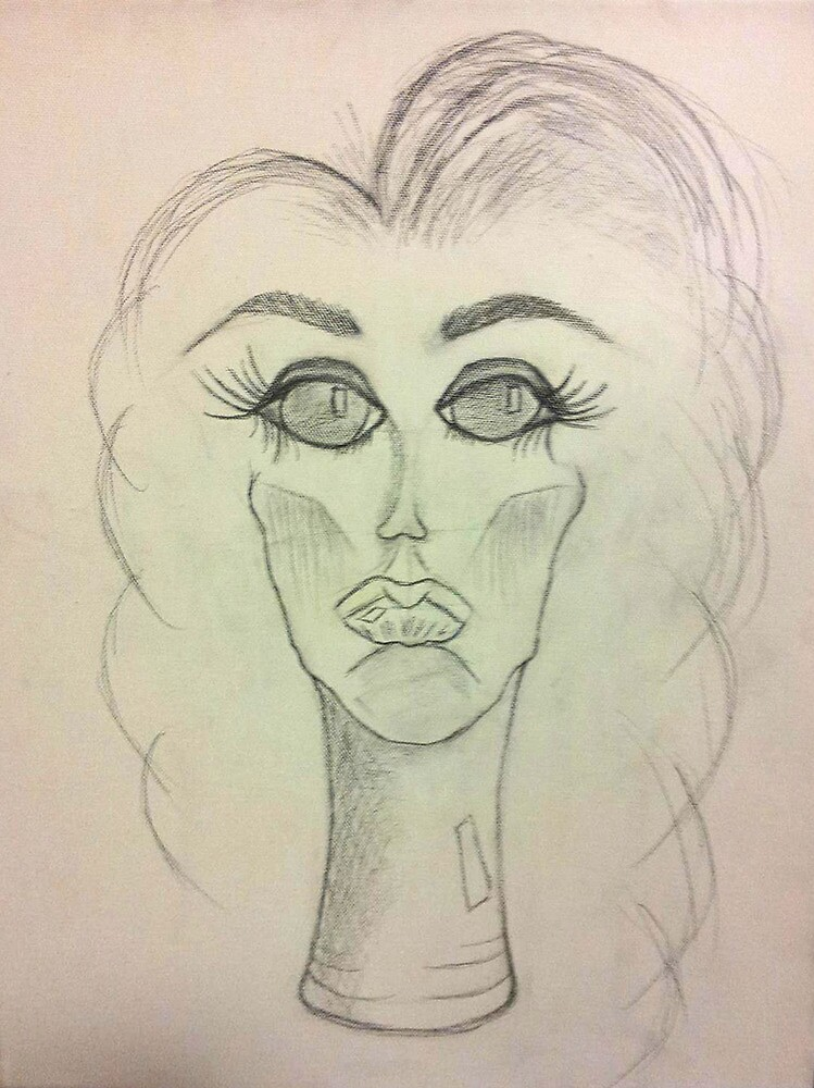Doll Pieces Sketch by C Rodriguez