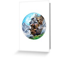 Howl's Moving Castle (Circle Scenery)  Greeting Card