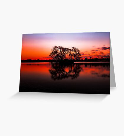 The Lakes at Sunset Greeting Card