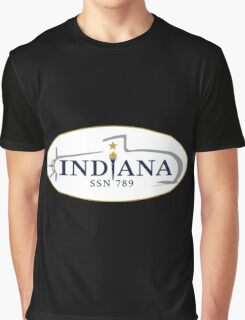 SSN-789 USS Indiana Crest Graphic T-Shirt