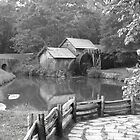 B&W Reflections of Mabry's Mill  by ThinkPics