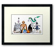 Ghibli Friends  Framed Print
