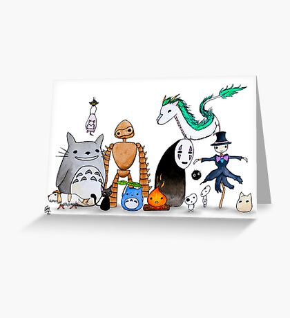 Ghibli Friends  Greeting Card