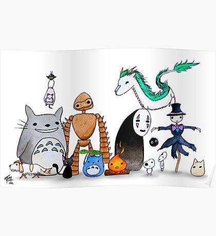 Ghibli Friends  Poster