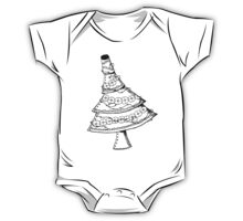 Steampunk Christmas Tree with Decorations One Piece - Short Sleeve