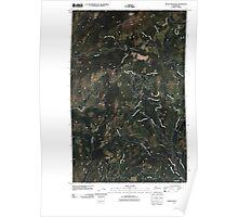 USGS Topo Map Washington State WA Moses Mountain 20110404 TM Poster