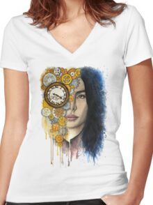 Time Will Tell Women's Fitted V-Neck T-Shirt