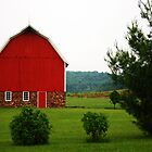 red barn, chippewa county, wisconsin by Lynne Prestebak