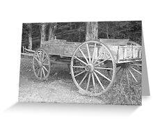 Old Farm Wagon Greeting Card
