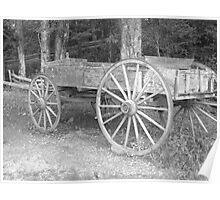 Old Farm Wagon Poster