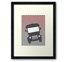 Philippine Jeepney Abstract  Framed Print