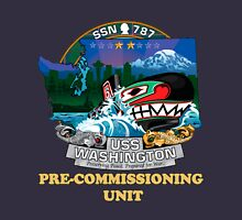 SSN-787 Pre-commissioning Unit Crest for Dark Colors Women's Fitted Scoop T-Shirt